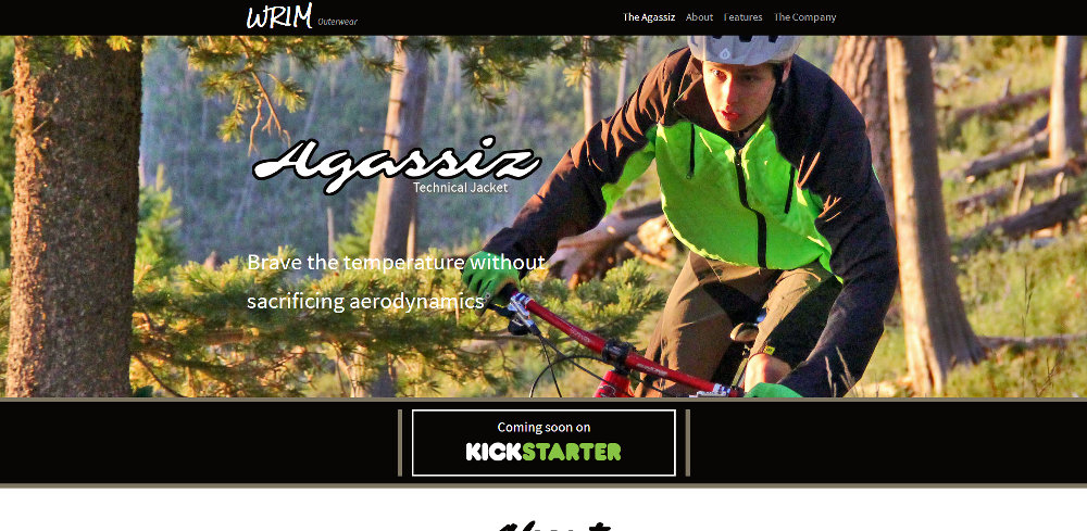 <p>This site was built for the Agassiz, an innovative new mountain biking jacket developed by WRIM LLC</p>
